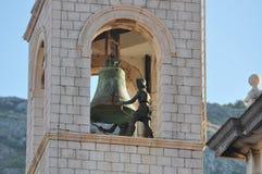 Klok Belltower in oude stad Dubrovnik, Kroatië Stock Foto's