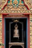 Klok bij een Pagode, de Voetafdruk van Koh Samui - Buddhas- royalty-vrije stock foto