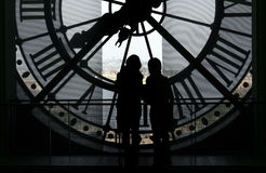 Klok bij het Museum Orsay Royalty-vrije Stock Afbeeldingen