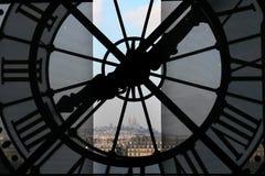 Klok bij het Museum Orsay Royalty-vrije Stock Afbeelding