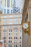Klok in Boston de stad in Royalty-vrije Stock Afbeeldingen