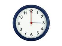 Klok die 3 uur toont Royalty-vrije Stock Fotografie