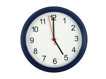Klok die 5 uur toont Royalty-vrije Stock Foto's
