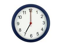 Klok die 7 uur toont Royalty-vrije Stock Afbeelding
