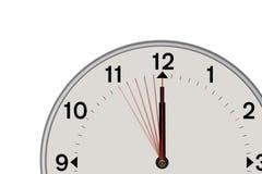 Klok die een tweede Aftelprocedure 5 tonen (Witte achtergrond) Royalty-vrije Stock Foto