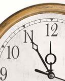 Klok die tijd toont Royalty-vrije Stock Foto's