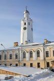Klok een klokketoren van het Kremlin (Detinets) Stock Fotografie