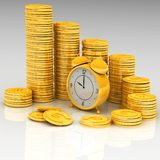 Klok en geld royalty-vrije illustratie