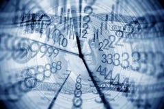 Klok en geld Stock Fotografie