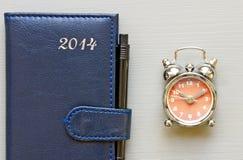 Klok en kalender Stock Afbeelding