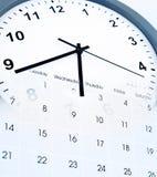 Klok en Kalender Royalty-vrije Stock Afbeelding
