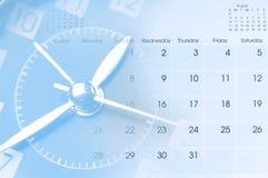 Klok en Kalender royalty-vrije stock foto's