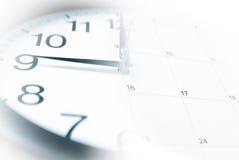 Klok en Kalender Royalty-vrije Stock Foto