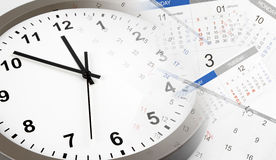 Klok en Kalenders Stock Afbeelding