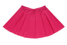 Klok-gebaseerde het roze is geïsoleerd, heeft een rok fuchsiakleurig kleur Royalty-vrije Stock Afbeeldingen