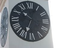 Klok, Grote Toren, Zwart-witte Tijd, royalty-vrije stock foto's