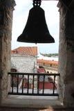 Klok in Havana Cathedral in Oude Havana Street in Cuba Royalty-vrije Stock Foto