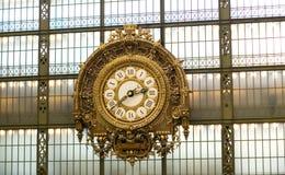 Klok in het museum Orsay Stock Fotografie