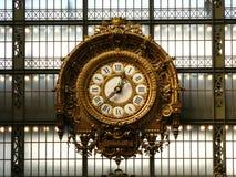 Klok in het Orsay Museum 01, Parijs, Frankrijk stock foto
