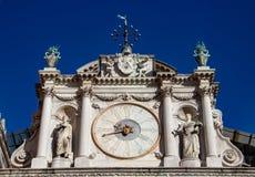 Klok in het Paleis van de Doge in Venetië royalty-vrije stock foto's