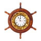 Klok in houten roer royalty-vrije stock afbeeldingen