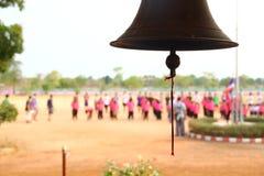 Klok in landelijke scholen in Thailand stock foto's