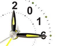 klok met 2016 Royalty-vrije Stock Foto