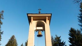 Klok met Christelijk kruis Royalty-vrije Stock Afbeelding