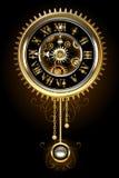 Klok met slinger royalty-vrije illustratie