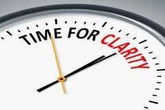 klok met teksttijd voor de duidelijkheid vector illustratie