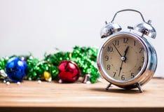 Klok met vrije ruimte voor ideeën, Gelukkige Nieuwjaar 2019 vakantie Stock Afbeeldingen