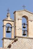 Klok op de kerktoren Royalty-vrije Stock Foto