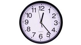 Klok op witte 00.00 TimeLapse stock videobeelden
