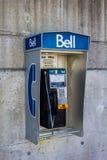 Klok openbare telefoon Royalty-vrije Stock Fotografie