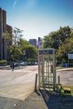 Klok openbare telefoon Stock Foto