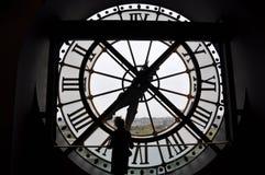 Klok in Orsay-Museum - Parijs, Frankrijk Royalty-vrije Stock Foto