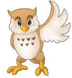 klok owl vektor illustrationer