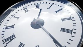 Klok in tijd-tijdspanne lijnopeenvolging stock video