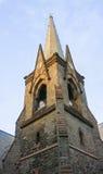 Klok & Torenspits bij de Eerste Opnieuw gevormde Kerk in Schenectady-NY Stock Foto's