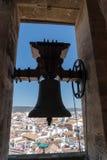 Klok van de Grote Mezquita Kathedraal van Cordova royalty-vrije stock afbeeldingen