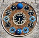 Klok van de Zimmer-toren, Lier, België Royalty-vrije Stock Foto