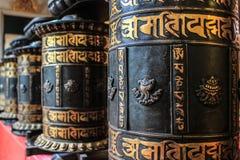 Klok van fortuin in de Chinese tempel stock foto