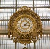 Klok van het Museum van Musee de d'Orsay Stock Afbeelding
