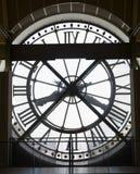 Klok van het Museum van Musee de d'Orsay Stock Foto