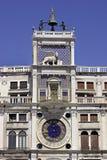 Klok in Venetië. stock fotografie