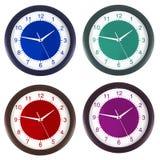 Klok in vier kleuren Vector Illustratie