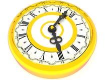 Klok. Vier uur. 3d vector illustratie