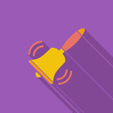 Klok vlak pictogram vector illustratie