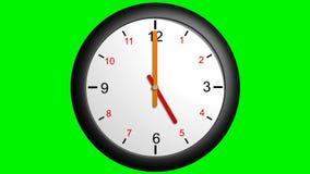 Klokhandvatten die rond 12 uren gaan vector illustratie