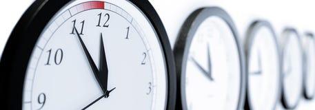 klokken stock afbeelding